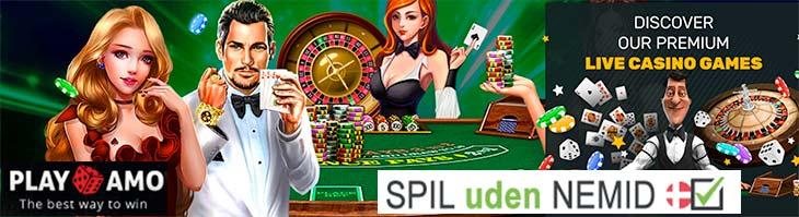PlayAmo: #1 udenlandske live casino uden NemID