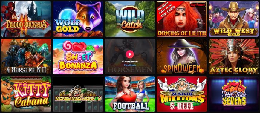 Casinomia spiludvalg