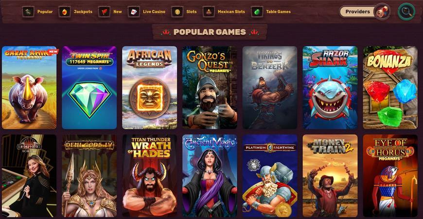 5 Gringos Casino slots