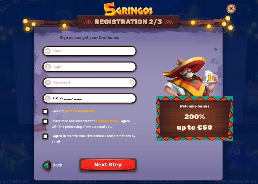 Hvorfor registrere sig på 5 Gringos?