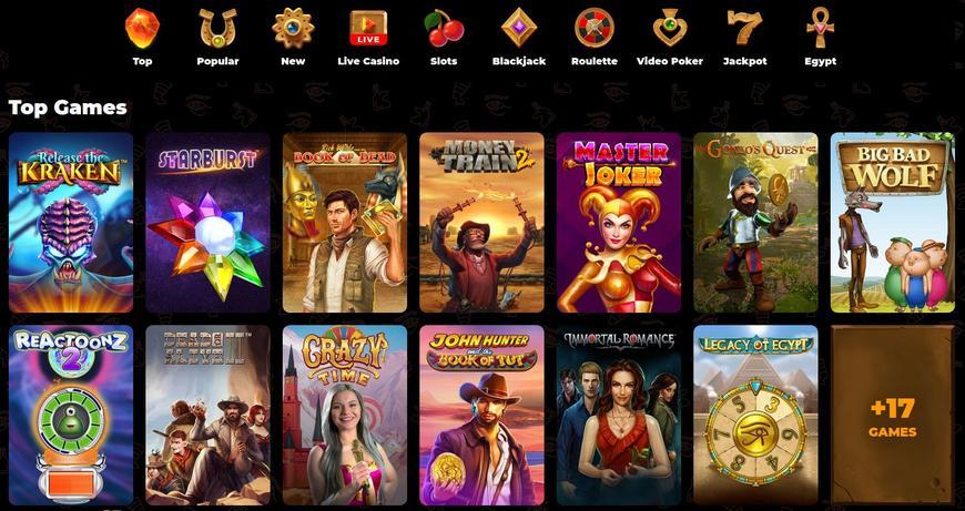 AmunRa Casino Software Udbydere