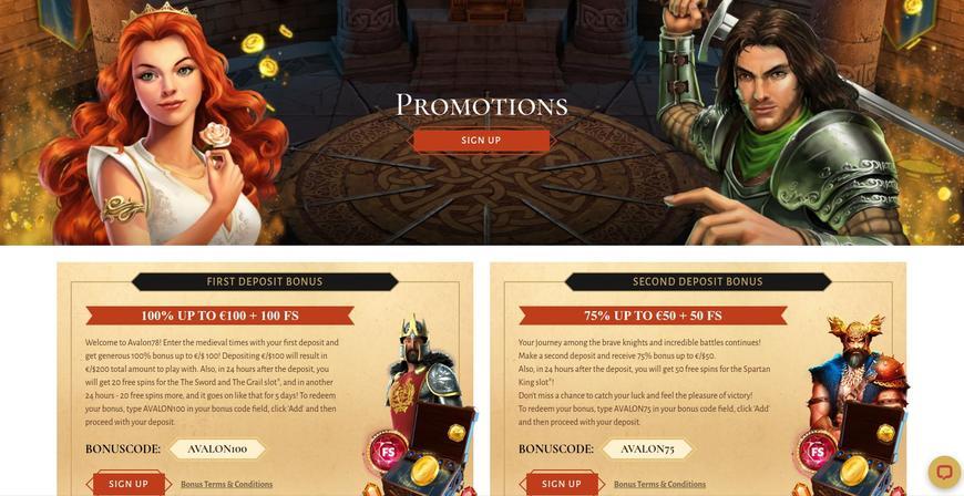 Velkomstbonus på Avalon78 Casino