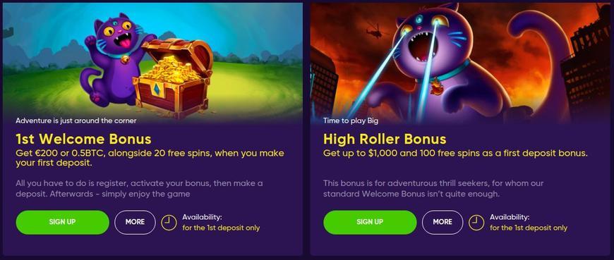 Velkomstbonus på Bao Casino