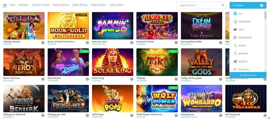 Wolfy Casino Software Udbydere